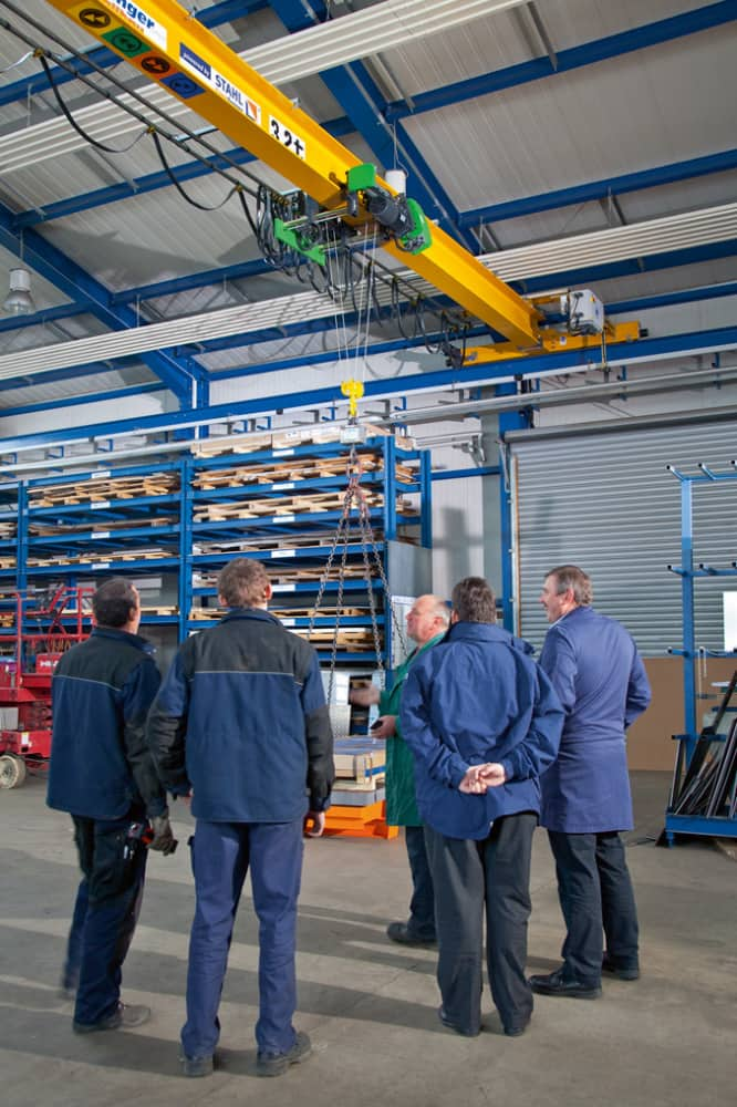 Erection of hoisting equipment - 3