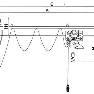 Чертеж - Настенный консольный кран HADEF 320/01 E