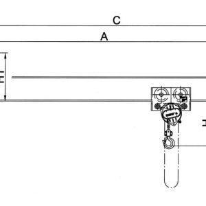 Чертеж - Настенный консольный кран HADEF 320/01 H