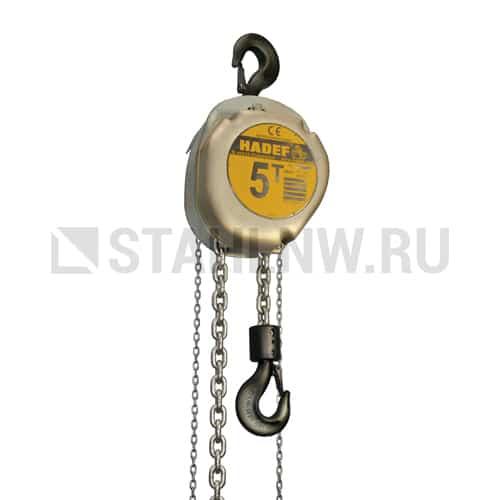 Таль ручная шестеренчатая стационарная HADEF 16/12 5-50т - фото 1