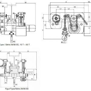 Чертеж - Таль цепная электрическая HADEF 29/06 EE