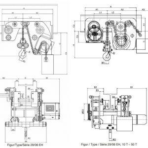 Чертеж - Таль цепная электрическая HADEF 29/06 EH