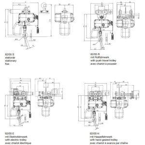 Чертеж - Таль цепная электрическая HADEF 62/05 H