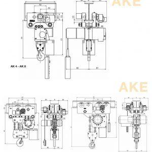 Чертеж - Таль цепная электрическая HADEF 66/04 AKE