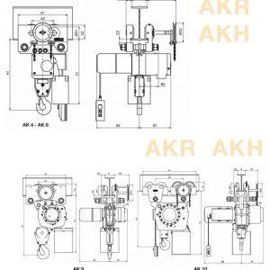 Чертеж - Таль цепная электрическая HADEF 66/04 AKH