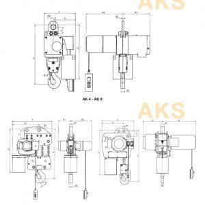 Чертеж - Таль цепная электрическая HADEF 66/04 AKS