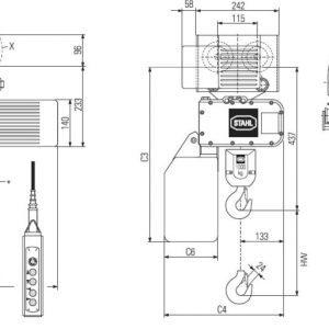 Чертеж - Таль цепная электрическая STAHL ST 1005