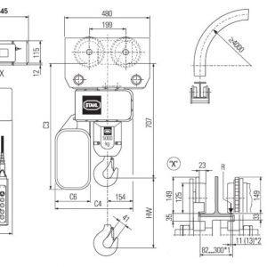 Чертеж - Таль цепная электрическая STAHL ST 5025