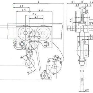 Чертеж - Таль цепная с передвижной кареткой HADEF 28/12 HR+HH
