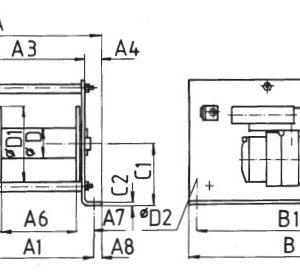 Чертеж - Пневматическая лебедка HADEF 43/86 P